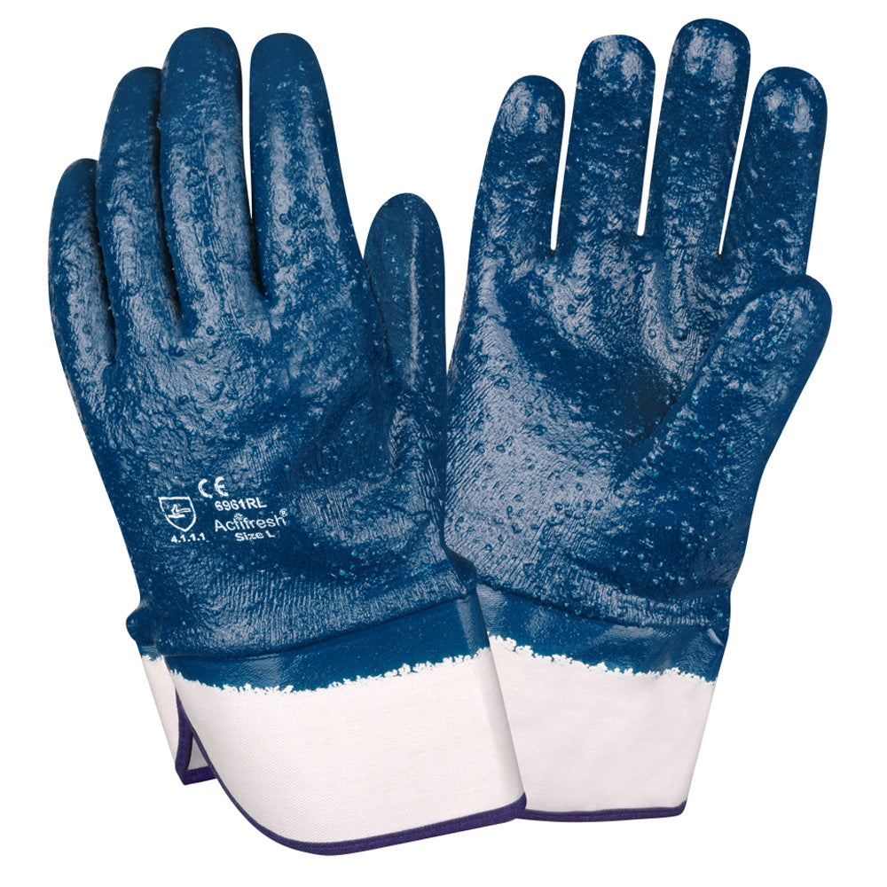 Brawler Premium Nitrile Rough/Fully Coated Gloves
