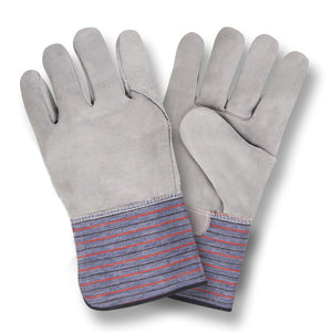 Pemium Shoulder Gray Full Leather Back Gloves