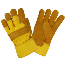 Load image into Gallery viewer, Premium Shoulder Russet Leather Yellow Back Gloves