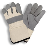 Premium Side Gauntlet Cuff Gray & White Gloves