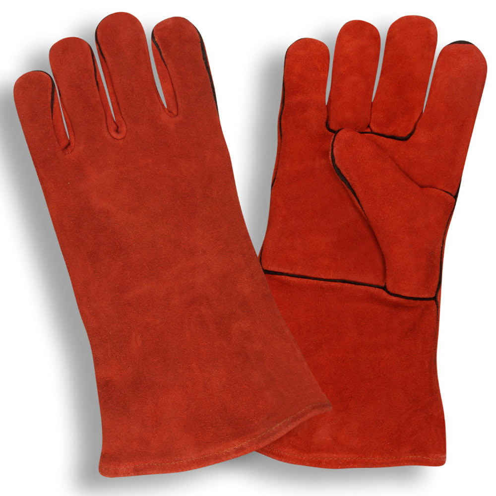 Select Welder Red Leather Gloves