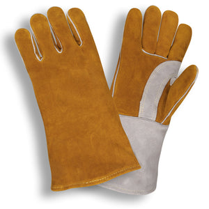 Premium Brown & Gray Leather Gloves