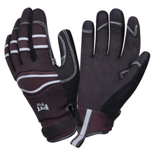Load image into Gallery viewer, Pit Pro Black Synthetic Leather Gloves