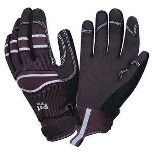 Pit Pro Black Synthetic Leather Gloves