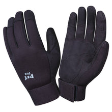 Load image into Gallery viewer, Pit Pro Black Synthetic Leather Palm Gloves