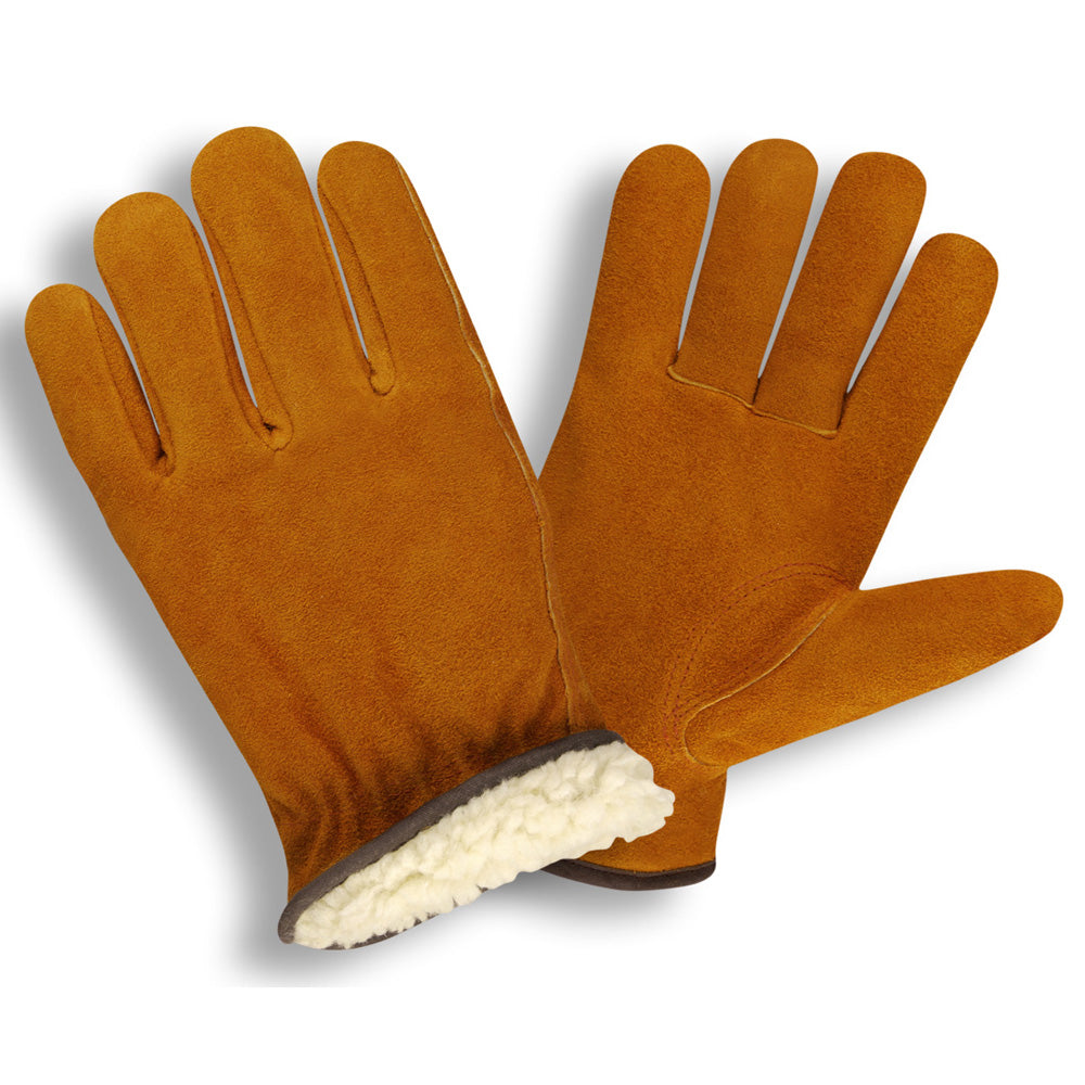 Standard Split Cowhide Pile Russet Color Gloves