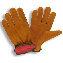 Load image into Gallery viewer, Standard Split Cowhide Red Fleece Gloves