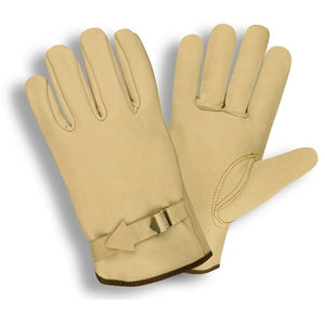 Select Grain Driver Leather Pull Strap Gloves