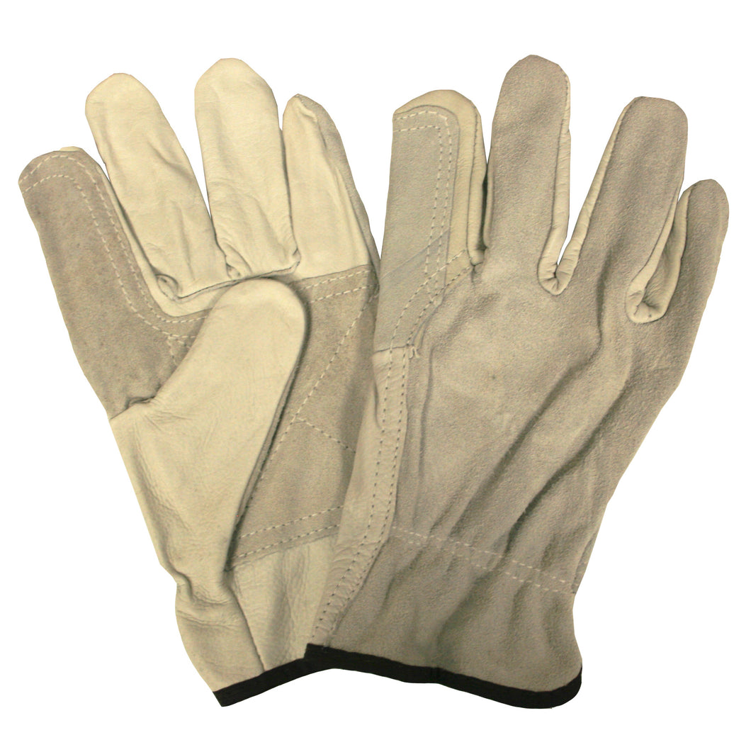 Grain Split Driver Double Palm Gloves