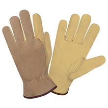Load image into Gallery viewer, Select Grain Brown Split Driver Gloves