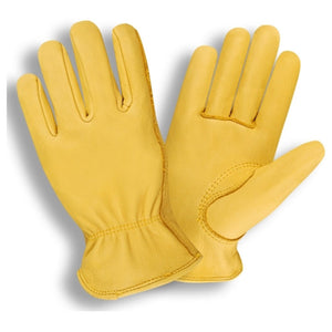 Premium Grain Deerskin Driver Yellow Gloves