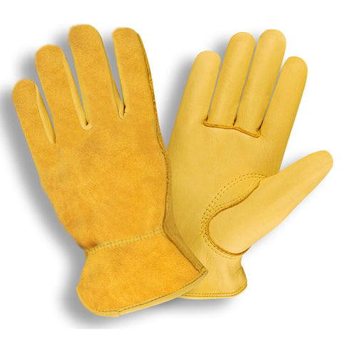 Select Grain Split Back Deerskin Driver Gloves