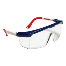Load image into Gallery viewer, Retriever Clear Glasses Red, White & Blue Nylon Frame