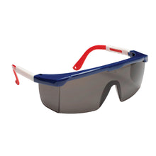 Load image into Gallery viewer, Retriever Gray Glasses Red, White & Blue Nylon Frame