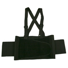 Load image into Gallery viewer, Black Back Support Belt with Attached Suspenders