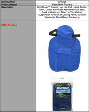 Load image into Gallery viewer, COLDSNAP™ COOLING HARD HAT PAD/NECK SHADE (PVA FABRIC)