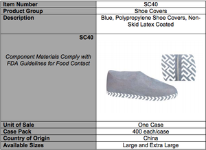 Polypropylene Shoe Cover