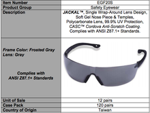 Load image into Gallery viewer, Jackal Gray Glasses