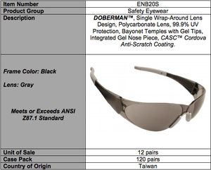 Doberman Gray Glasses