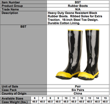 Load image into Gallery viewer, Rubber-Steel Toe Boots
