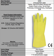 Load image into Gallery viewer, Premium Yellow Flocked Latex Gloves