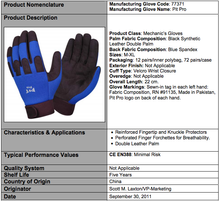 Load image into Gallery viewer, Pit Pro Blue & Black Synthetic Leather Palm GLoves