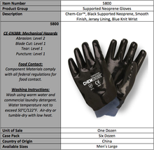 Load image into Gallery viewer, Black Neoprene Supported Latex Gloves