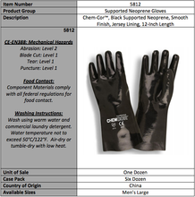 Load image into Gallery viewer, Neoprene Supported Jersey Lining Latex Gloves