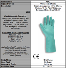Load image into Gallery viewer, Premium Nitrile 18In. Green Gloves
