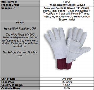 Freezer Beater Leather Gloves