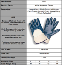 Load image into Gallery viewer, Standard Nitrile Smooth Finish/Safety Cuff Gloves