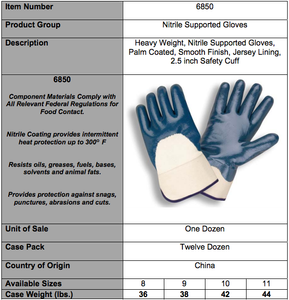 Standard Nitrile Smooth Finish/Safety Cuff Gloves
