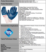 Load image into Gallery viewer, Brawler II Premium Nitrile Smooth/Palm Coated Gloves