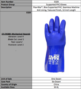 FLEX-RITE PVC Gloves