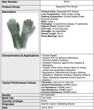 Load image into Gallery viewer, Etched PVC 14-IN Green Gloves