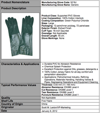 Load image into Gallery viewer, Etched PVC 18-IN Green Gloves