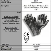 Load image into Gallery viewer, Rough PVC 12-IN Black Gloves