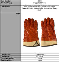 Load image into Gallery viewer, PVC Chip Finish RED Gloves