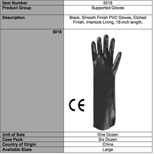 Load image into Gallery viewer, Smooth PVC 18-In Gloves