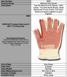 Two-Ply Reversible Hot Mill Gloves