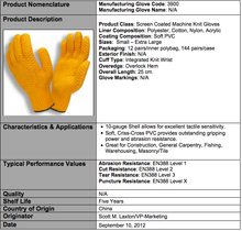 Load image into Gallery viewer, Criss-Cross PVC Orange Gloves