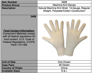 Natural 13-Gauge Standard Gloves