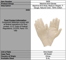 Load image into Gallery viewer, Natural 100% Cotton 7-Gauge Gloves