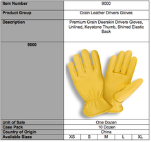 Load image into Gallery viewer, Premium Grain Deerskin Driver Yellow Gloves
