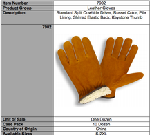 Load image into Gallery viewer, Standard Split Cowhide Pile Russet Color Gloves