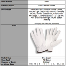 Load image into Gallery viewer, Premium White Goatskin Grain Driver Gloves