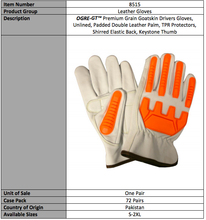 Load image into Gallery viewer, OGRE GT Premium Goatskin Gloves