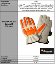 Load image into Gallery viewer, OGRE GT Premium Goatskin Thinsulate Gloves
