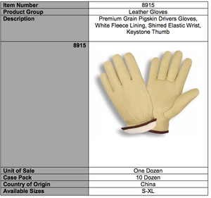 Premium Grain Pigskin Driver Red Fleece Gloves