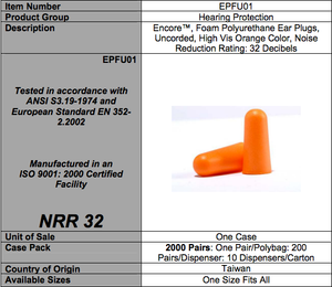 PU Ear Plugs